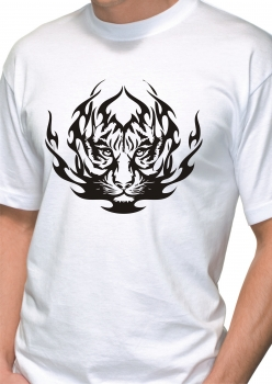 T-shirt Flammen Tiger