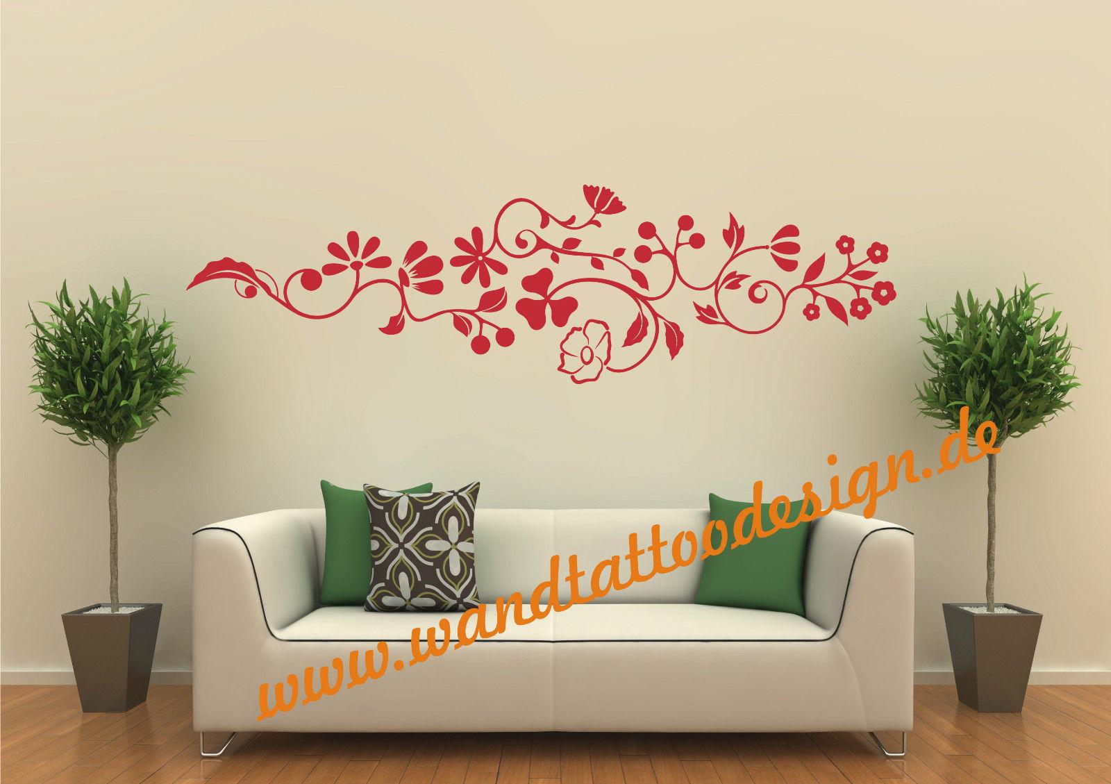 wandtattoo pflanze blume blumenranke. Black Bedroom Furniture Sets. Home Design Ideas