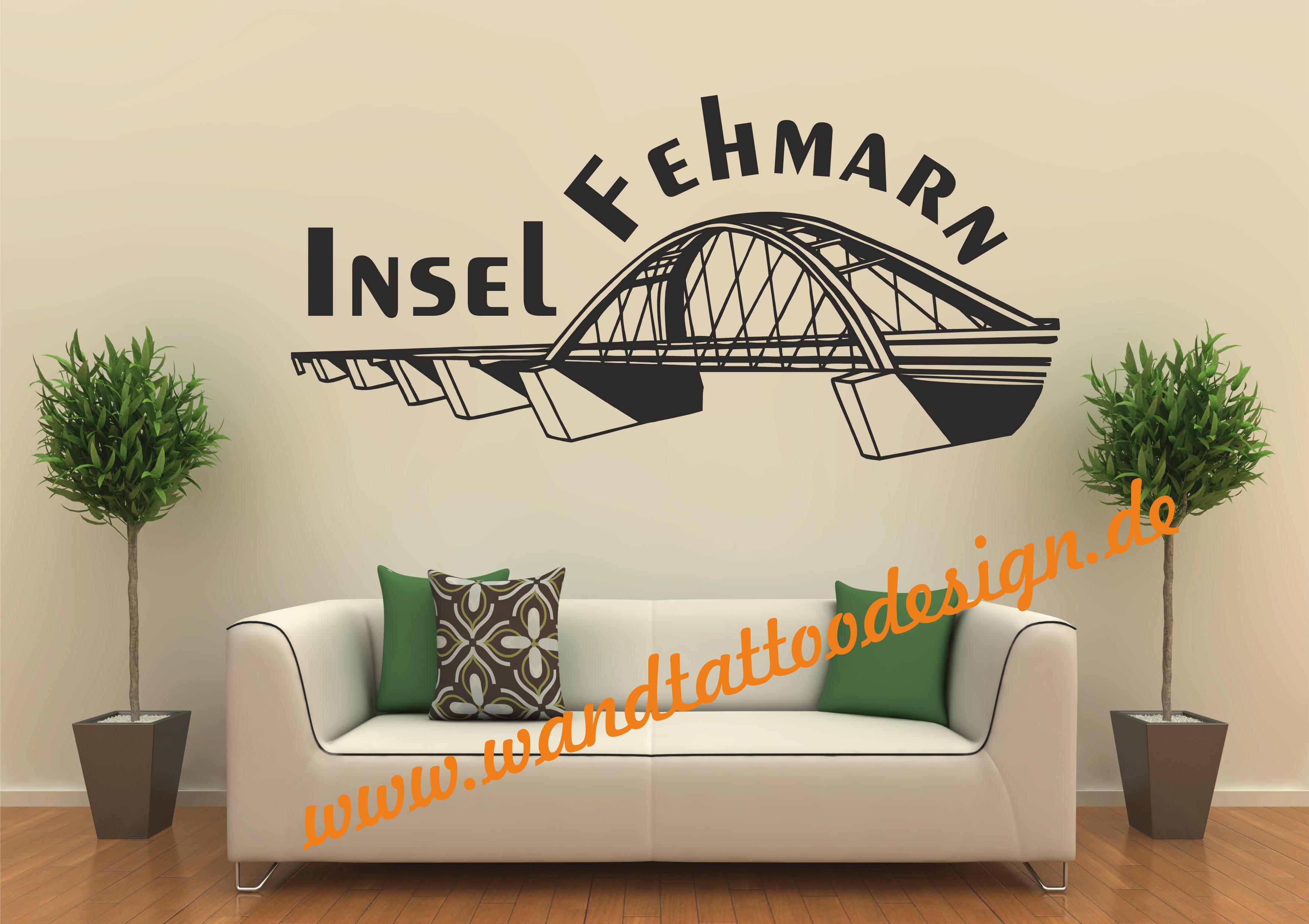 wandtattoo fehmarn. Black Bedroom Furniture Sets. Home Design Ideas