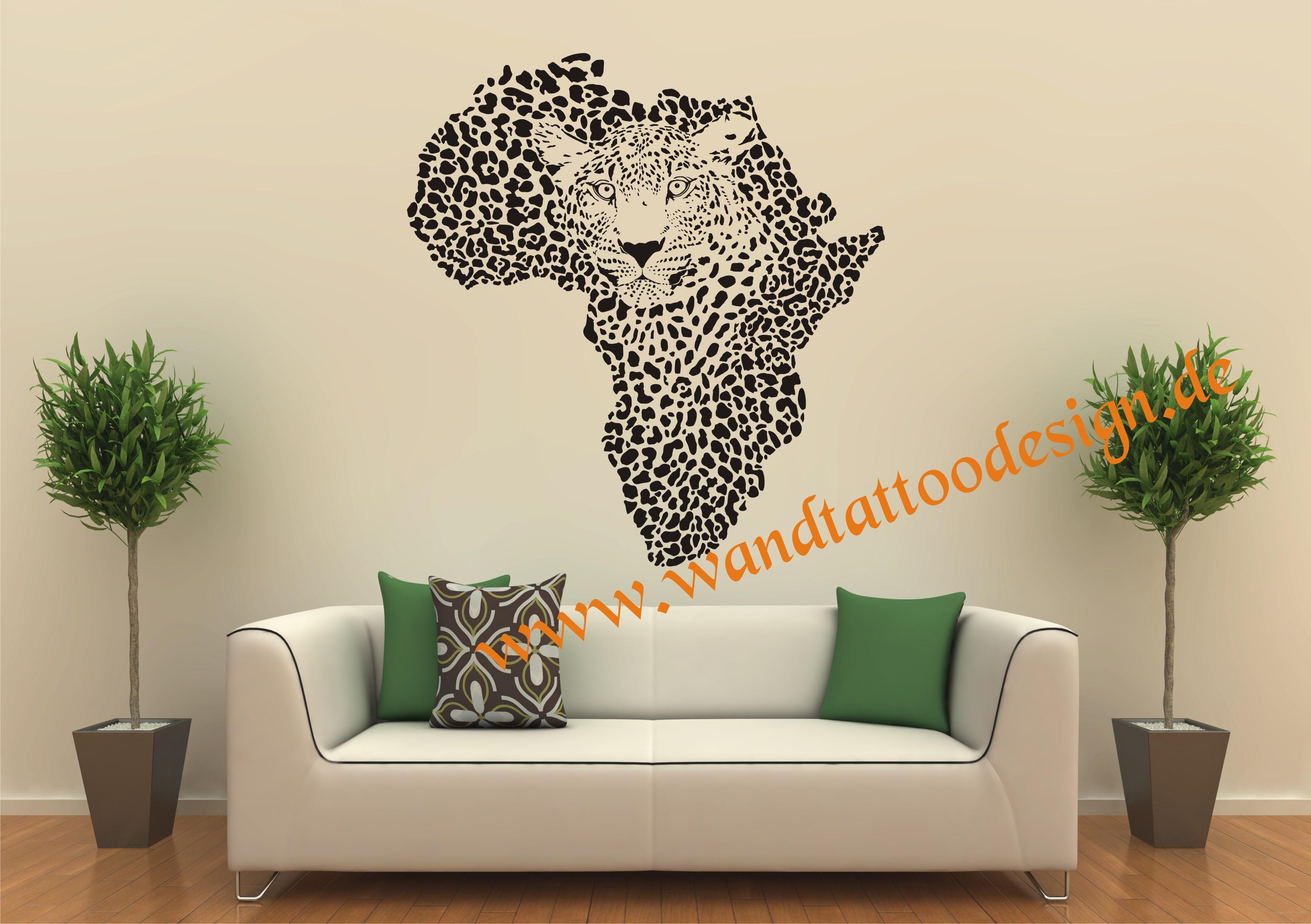 Wandtattoo leopard leo afrika safari for Wandtattoo afrika