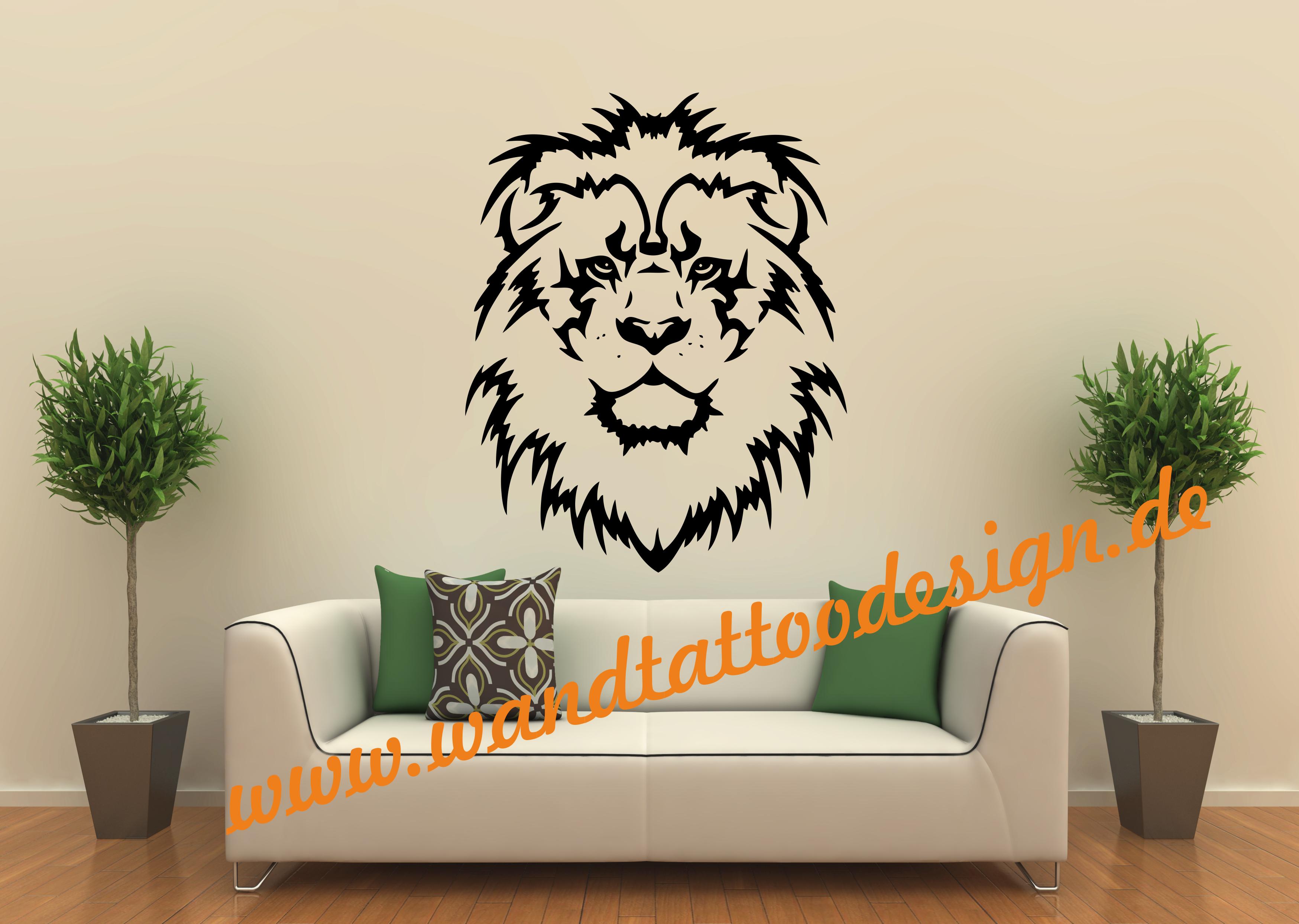 wandtattoo l we l wenkopf afrika. Black Bedroom Furniture Sets. Home Design Ideas
