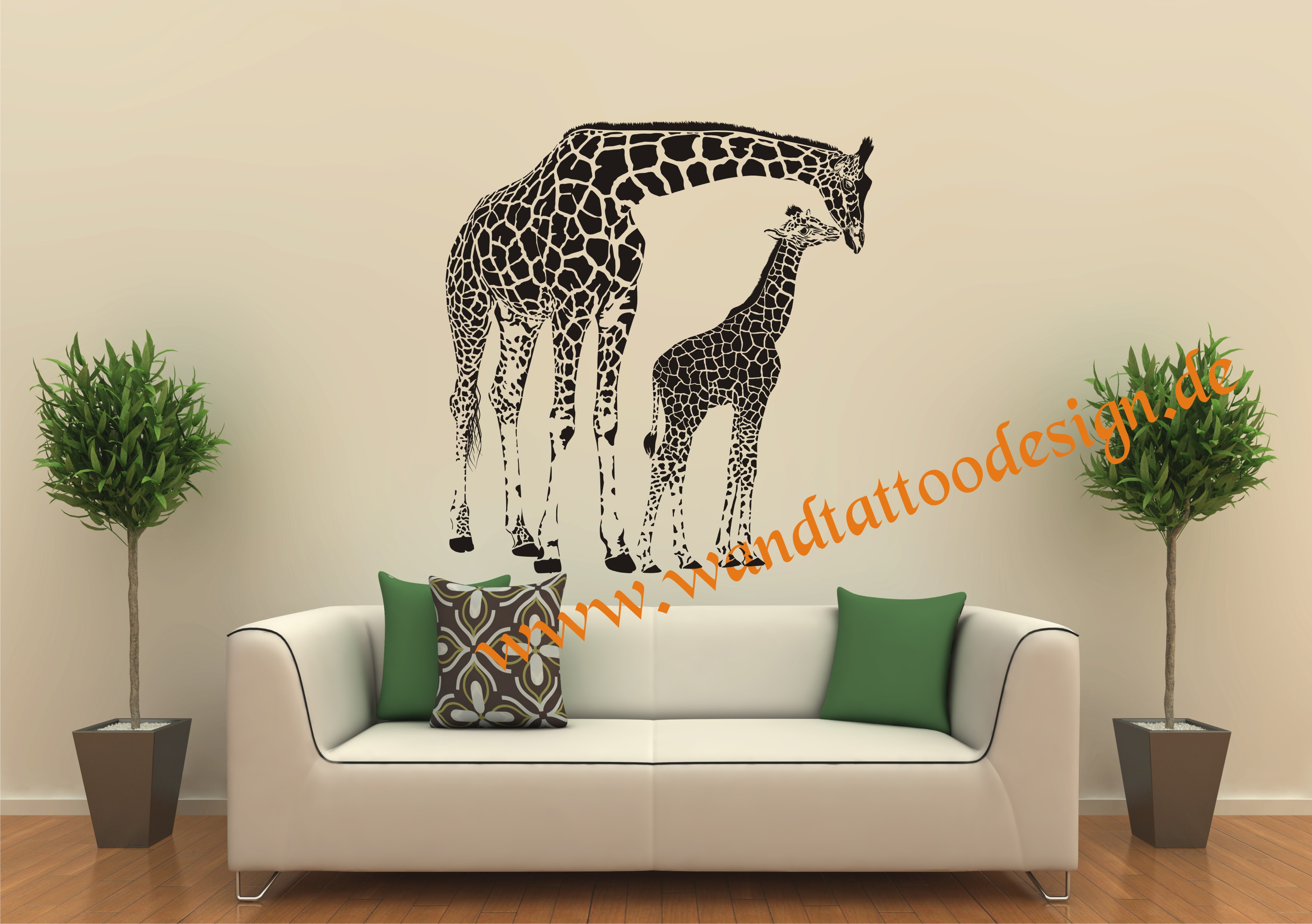 wandtattoo giraffe giraffenfamilie. Black Bedroom Furniture Sets. Home Design Ideas